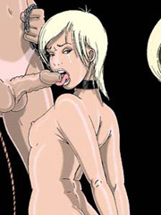 Story about dominant princesses humiliating their male slave with 3d illustrations