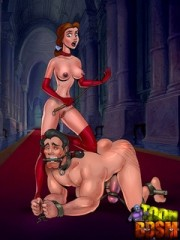 Xxx bdsm art pics of toon blonde slave girl in white stcoking gets hanged and pussy abused.